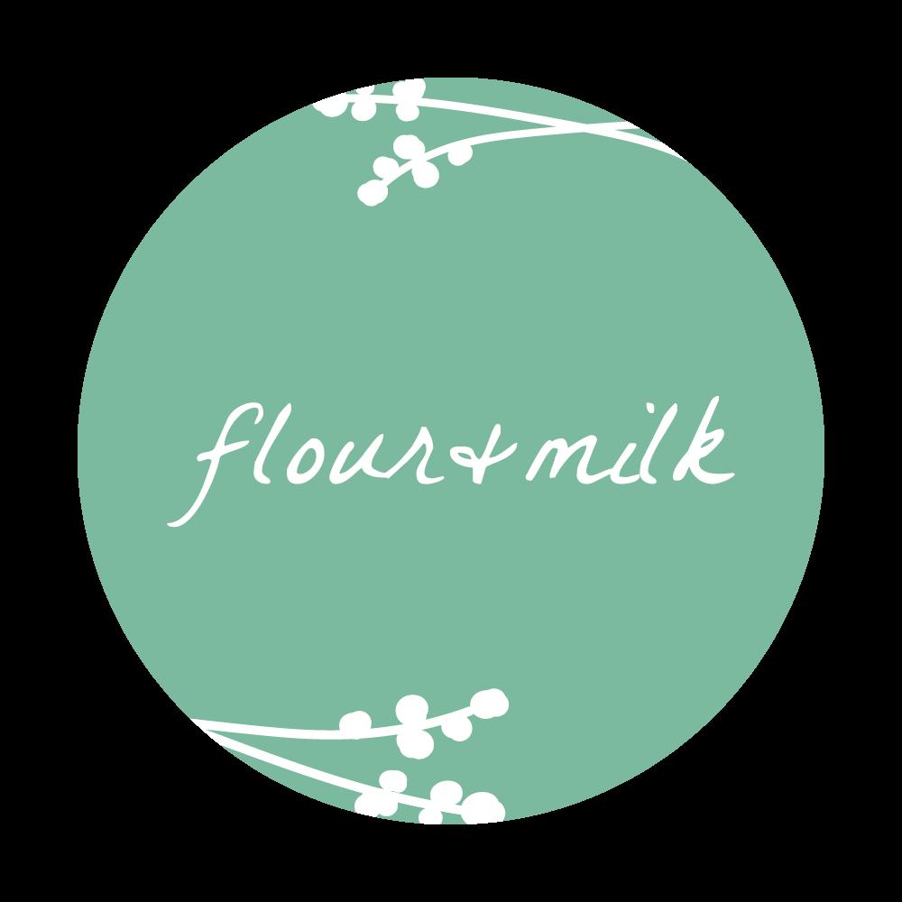 flour and milk logo green round